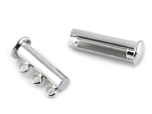 1 pc Jewelry Magnetic Clasp, 20mm, Platinum Plated