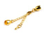 1 pc Lobster Clasp with Chain and End Cap, 6mm, Gold Plated