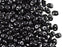 20 g 2-hole SuperDuo™ Seed Beads, 2.5x5mm, Jet Black, Czech Glass