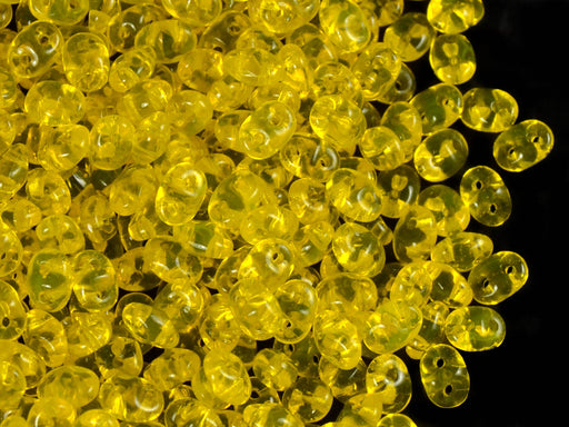 20 g 2-hole SuperDuo™ Seed Beads, 2.5x5mm, Amber, Czech Glass