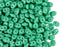 20 g 2-hole SuperDuo™ Seed Beads, 2.5x5mm, Opaque Turquoise Green, Czech Glass