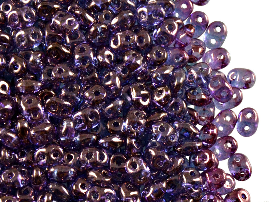 20 g 2-hole SuperDuo™ Seed Beads, 2.5x5mm, Crystal Vega Luster, Czech Glass