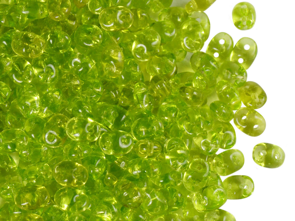 20 g 2-hole SuperDuo™ Seed Beads, 2.5x5mm, Olivine, Czech Glass