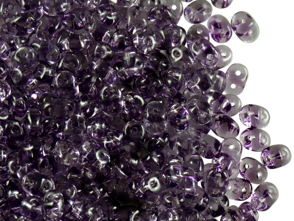 2-hole SuperDuo™ Seed Beads, 2.5x5mm, Tanzanite, Czech Glass