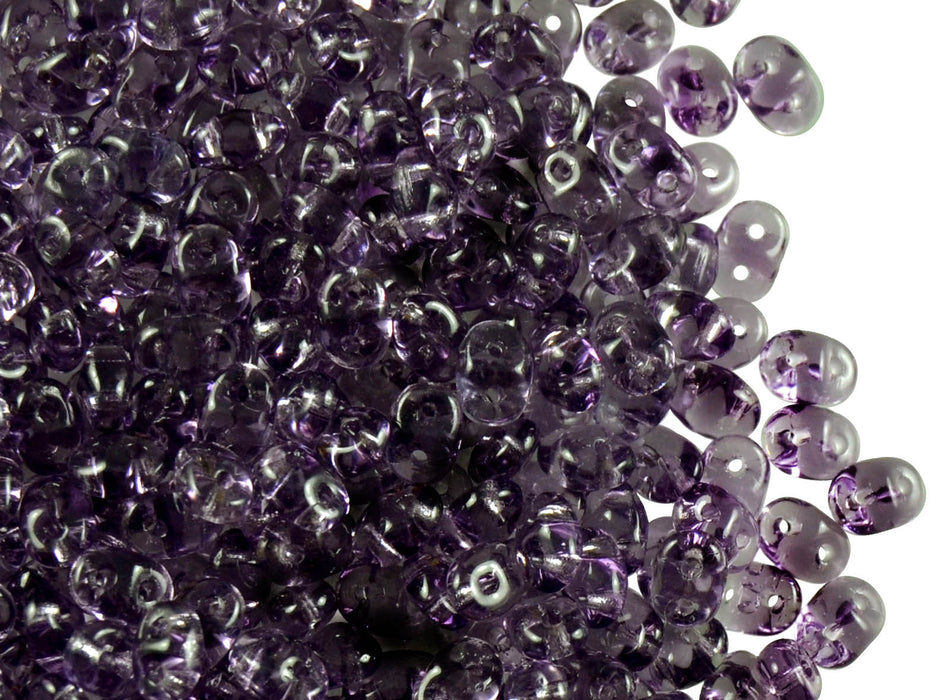 20 g 2-hole SuperDuo™ Seed Beads, 2.5x5mm, Tanzanite, Czech Glass