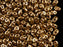 20 g 2-hole SuperDuo™ Seed Beads, 2.5x5mm, Crystal Gold Bronze 24 Carat, Czech Glass