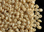 20 g 2-hole SuperDuo™ Seed Beads, 2.5x5mm, Chalk Champagne Luster, Czech Glass