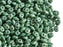 20 g 2-hole SuperDuo™ Seed Beads, 2.5x5mm, Chalk Green Luster, Czech Glass