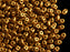 20 g 2-hole SuperDuo™ Seed Beads, 2.5x5mm, Crystal Bronze Gold Matte, Czech Glass