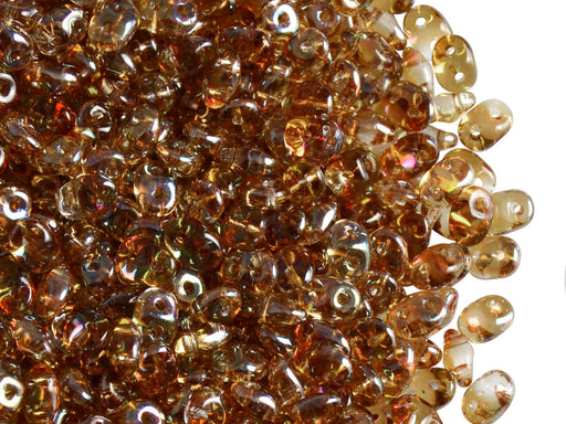 20 g 2-hole SuperDuo™ Seed Beads, 2.5x5mm, Cristal Celsian, Czech Glass
