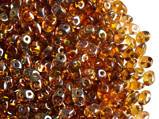 20 g 2-hole SuperDuo™ Seed Beads, 2.5x5mm, Topaz Celsian, Czech Glass