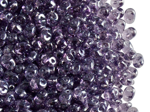 20 g 2-hole SuperDuo™ Seed Beads, 2.5x5mm, Tanzanite White Luster, Czech Glass