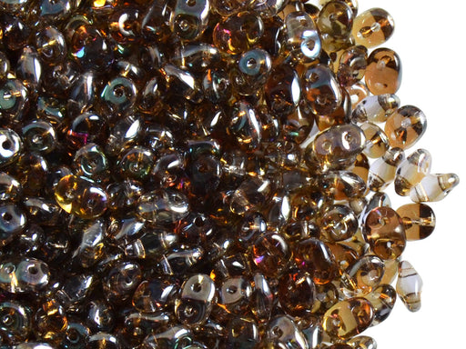 20 g 2-hole SuperDuo™ Seed Beads, 2.5x5mm, Tanzanite Celsian, Czech Glass