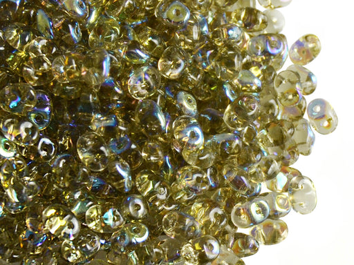 20 g 2-hole SuperDuo™ Seed Beads, 2.5x5mm, Black Diamond AB, Czech Glass