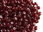 20 g 2-hole SuperDuo™ Seed Beads, 2.5x5mm, Ruby Vega, Czech Glass