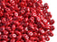 20 g 2-hole SuperDuo™ Seed Beads, 2.5x5mm, Opaque Coral Red White Luster, Czech Glass