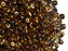 20 g 2-hole SuperDuo™ Seed Beads, 2.5x5mm, Topaz Bronze Luster, Czech Glass
