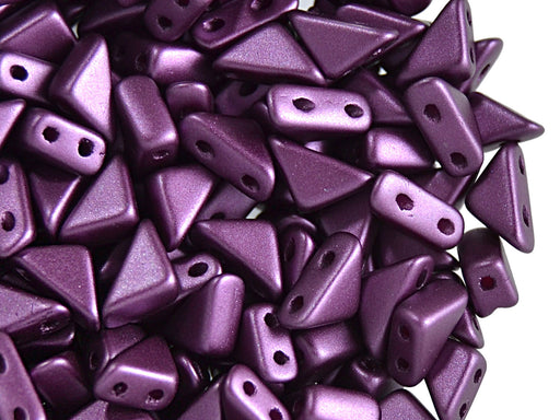 24 pcs 2-hole Tango Beads, 6x6x8mm, Pastel Dark Purple, Czech Glass