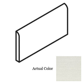American Olean - Infusion Porcelain 4 in. x 12 in. Bullnose - White Fabric