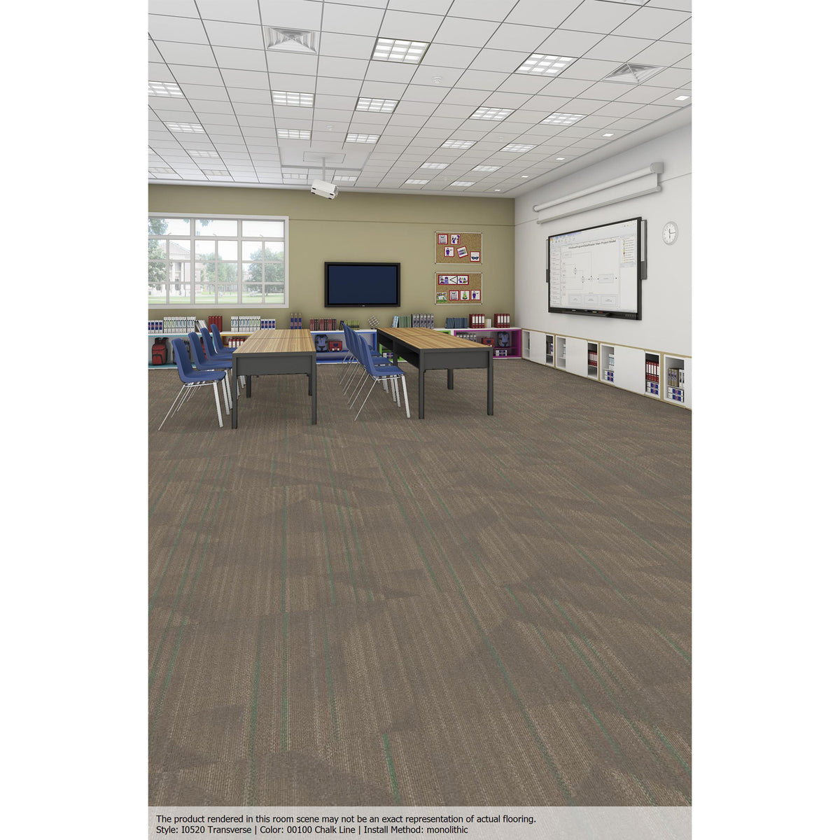Patcraft - Infrastructure Collection - Transverse Carpet Tile - Chalk Line