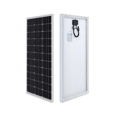 Image of 100 Watt 12V Mono Solar Starter Kit w/ Wanderer 10A Charge Controller + Free Shipping! - Shop Solar Kits