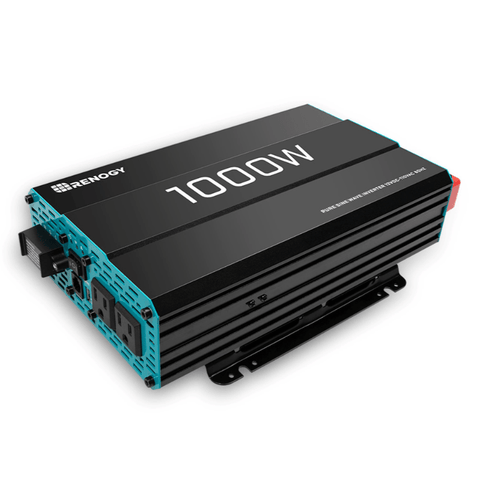 Renogy 1000W 12V Pure Sine Wave Inverter | RNG-INVT-1000-12V-P2 + Free Shipping - Shop Solar Kits