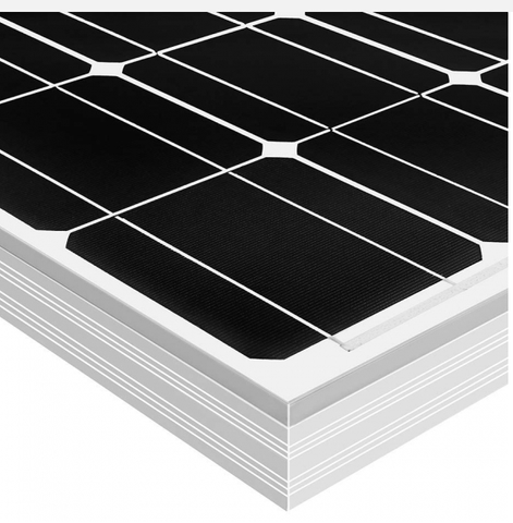 100w Solar Panel - 12 Volts Monocrystalline + Free shipping & No Sales Tax - Shop Solar Kits