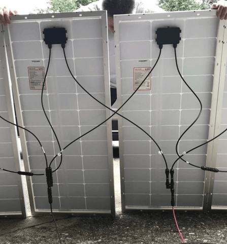 Image of 2 x 100 Watt Solar Panels - 12V Monocrystalline | High Efficiency 2SG-100WM Sungold
