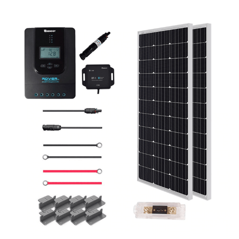 200 Watt 12V Premium Solar Panel Kit + Free Shipping! - Shop Solar Kits