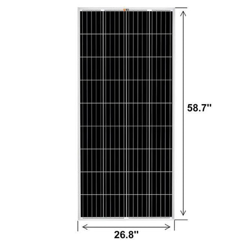 Image of 200 Watt Solar Panel | High Efficiency 12V Monocrystalline SSK200-12V NPA