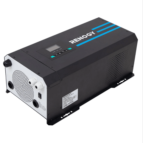 Image of 2000W 12V Pure Sine Wave Inverter Charger w/ LCD Display | R-INVT-PCL1-20111S + Free Shipping - Shop Solar Kits
