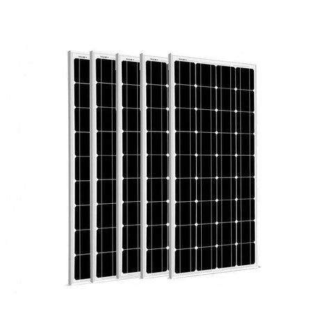 Image of 5 x 100 Watt Solar Panels - 12V Mono | 500 Watts + Free shipping & No Sales Tax - Shop Solar Kits