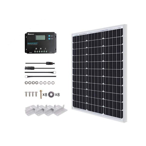 50 Watt 12V Monocrystalline Starter Kit + Free Shipping! - Shop Solar Kits
