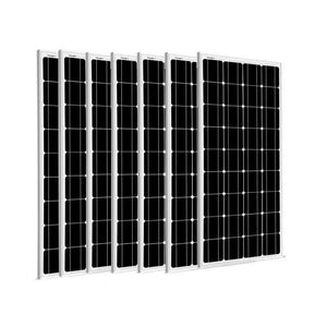 7 x 100 Watt Solar Panels - 12V Mono | 700 Watts + Free shipping & No Sales Tax - Shop Solar Kits