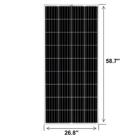 Image of Complete Off-Grid Solar System [AGM Kit] 6 x 200 Watt Solar Panels + 6,000 Watt Pure Sine Wave 24V Split Phase [120/240V] | [OGK-10]