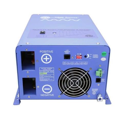 Image of AIMS 1,500 Watt Pure Sine Inverter Charger UL 458 Certified PICOGLF15W12V120V - Shop Solar Kits