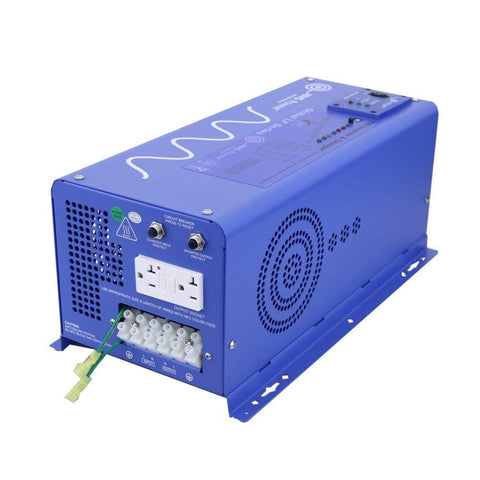 Image of AIMS 2,000 Watt 12V Pure Sine Inverter Charger PICOGLF20W12V120VR - Shop Solar Kits
