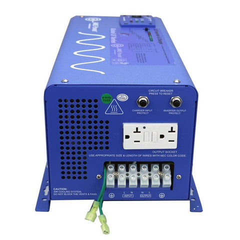 Image of AIMS 3000 Watt Pure Sine Inverter Charger 12 Volt PICOGLF30W12V120VR - Shop Solar Kits