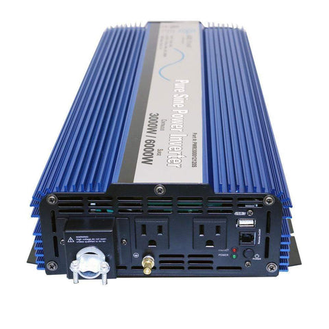 Image of AIMS 3000 Watt Pure Sine Power Inverter ETL Listed | PWRI300012120SUL + Free Shipping! PWRI300012120SUL AIMS power