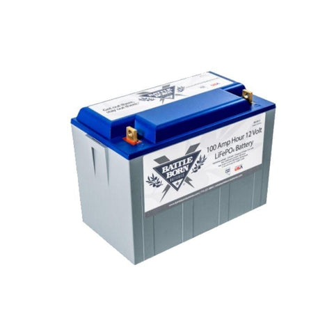 Image of BattleBorn 100 Ah 12V LiFePO4 Deep Cycle Battery | #1 Solar Battery BB10012 BattleBorn