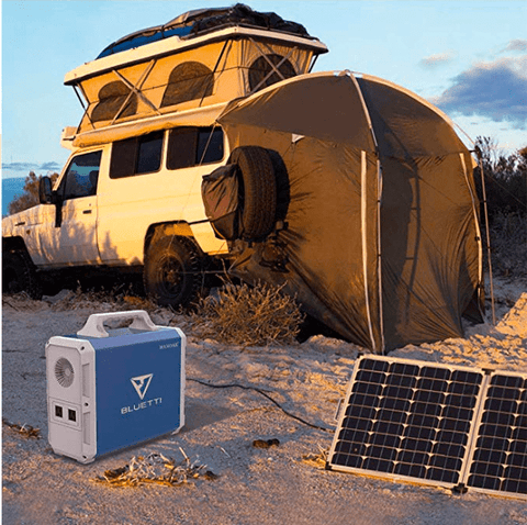 Image of Bluetti EB150 Solar Generator Kit + 1 x 100 Watt Solar Panel | EB150-100-KIT + Free Shipping & No Sales Tax - Shop Solar Kits