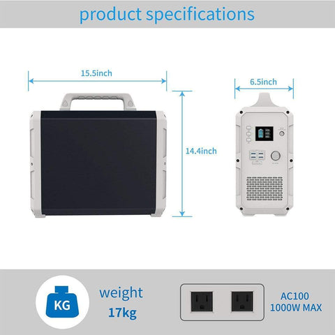 Image of Bluetti Solar Generator - Black Edition - 1500wH Portable Power Station + Free Shipping & No Sales Tax - Shop Solar Kits