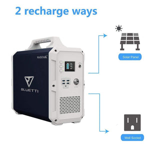 Bluetti Solar Generator - Black Edition - 1500wH Portable Power Station + Free Shipping & No Sales Tax - Shop Solar Kits
