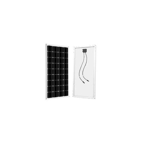 Complete 100 Watt Solar Kit - 100W Solar Panel + 20A LCD PWM Charge Controller Solar + MC4 Extension Cables +  Z Mounting Brackets - Shop Solar Kits