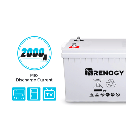 Image of Deep Cycle AGM Battery 12 Volt 200Ah | RNG-BATT-AGM12-200 + Free Shipping - Shop Solar Kits