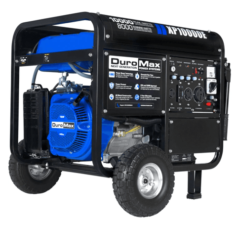 Image of DuroMax XP10000E 10000-Watt 18-Hp Portable Gas Electric Start Generator RV Home Standby | XP10000E + Free Shipping - Shop Solar Kits