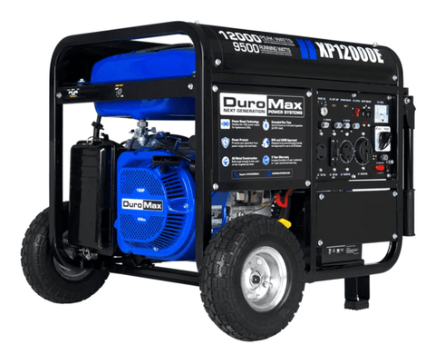 Image of DuroMax XP12000E 12000 Watt 18 HP Portable Gas Generator | XP12000E + Free Shipping - Shop Solar Kits