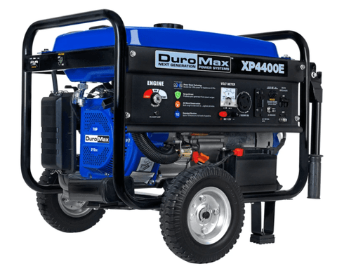 Image of DuroMax XP4400E 4400-Watt 7-Hp RV Grade Gas Generator w/ Electric Start and Wheel Kit | XP4400E + Free Shipping - Shop Solar Kits