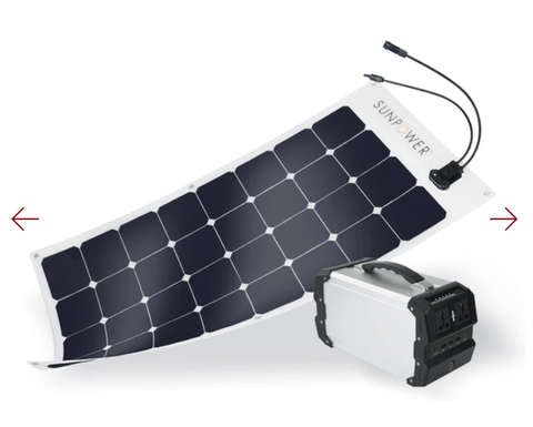Image of ExpertPower Alpha 400 + 110W SunPower Solar Panel Kit + Free Shipping, NO Sales Tax & Free After-Sale Support - Shop Solar Kits