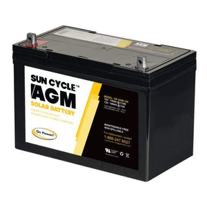 Go Power! 12 Volt 100 Amp Hour AGM Sun Cycle Solar Battery - Shop Solar Kits